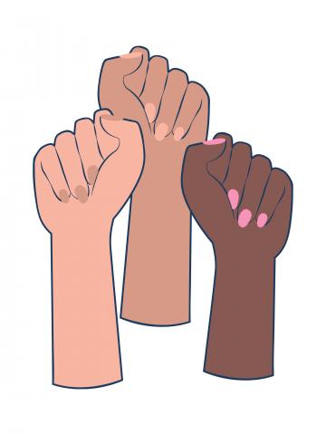Feminist solidarity fists