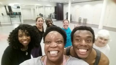 Group selfie of Madia Cooper and Master Dance class
