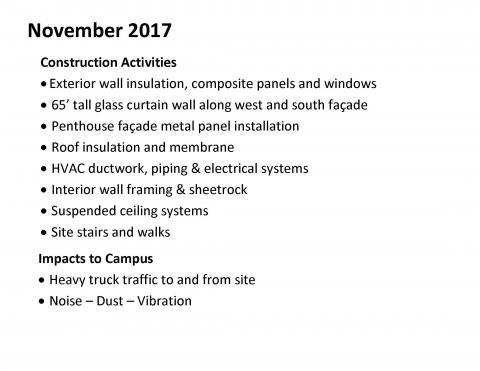 Construction Updates November 2017