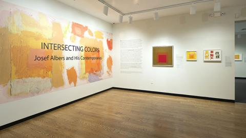 "Installation view of ""Intersecting Colors: Josef Albers and His Contemporaries,"" 2015."