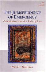 The Jurisprudence of Emergency Book Cover
