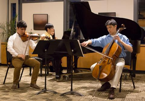 Chamber music at the Center for Humanistic Inquiry