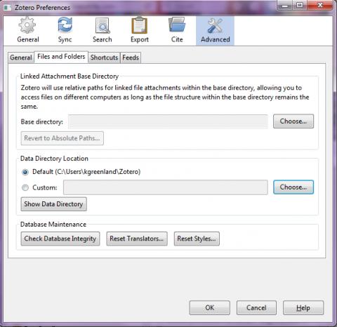 Zotero Data Directory