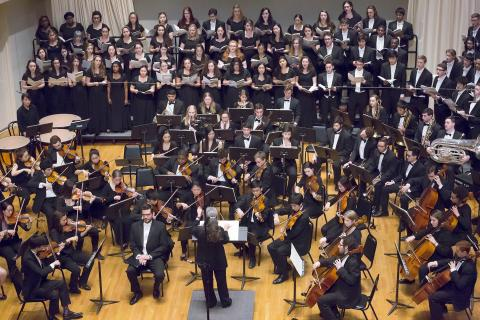 Amherst Symphony Orchestra performing