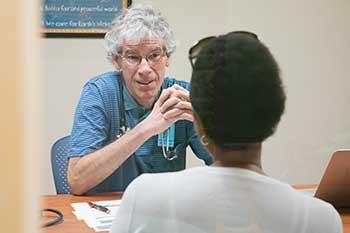 Meeting with internist Dr. Andrew Balder '75