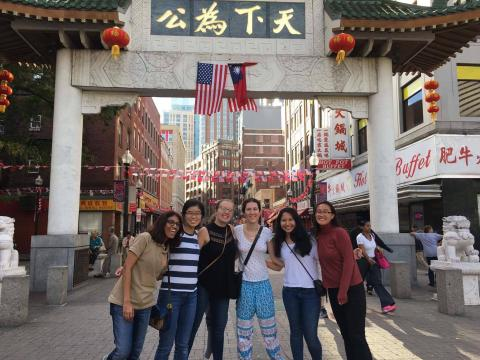 Me and my friends in Chinatown, Boston