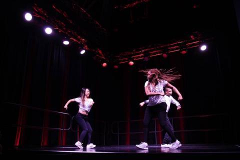 DASAC dance team members performing