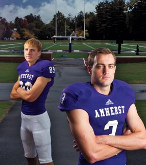 Jake O'Malley '14 and Brian O'Malley '17 standing on Pratt field