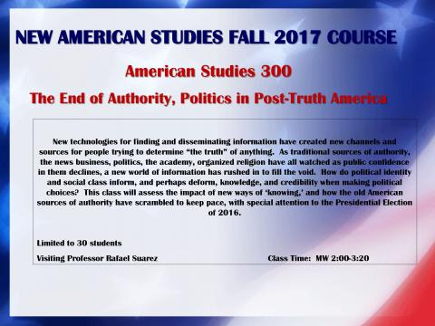 Fall Course Offering
