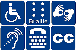 Universall Accessibility Symbols