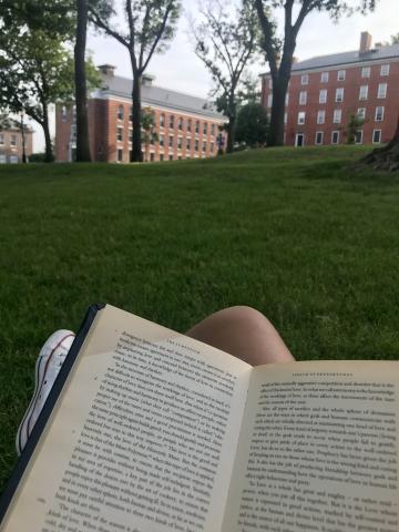 Reading on the Quad