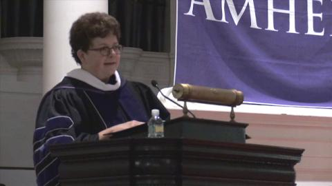President Biddy Martin delivers Convocation address, 2016