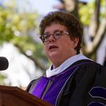 Biddy Martin giving commencement address