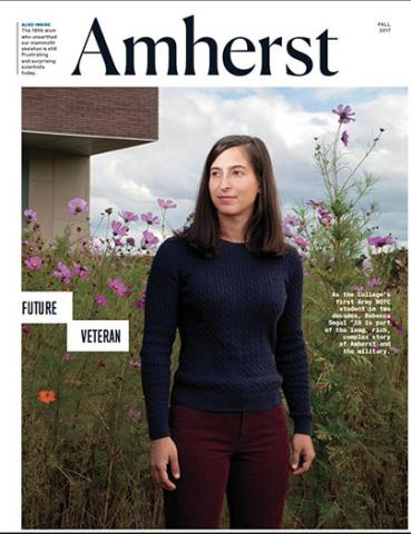 Fall 2017 cover of Amherst magazine