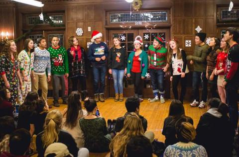 the DQ performing in our annual Christmas show