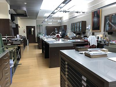 Folger conservation lab