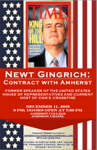 Newt Gingrich: Contract with Amherst poster