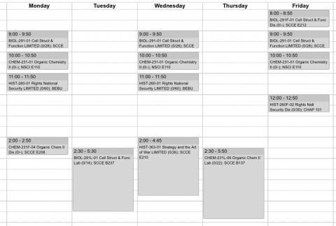 My Class Schedule!
