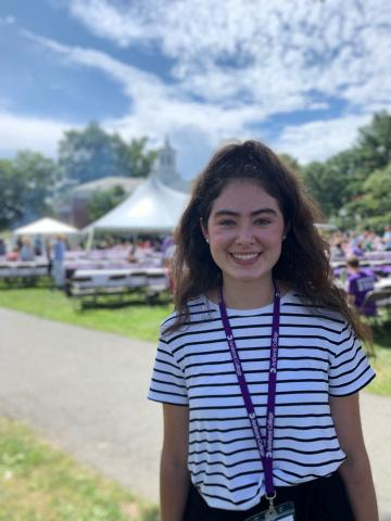 Victoria Foley `23 at Welcome Orientation Day 2019 for Freshman
