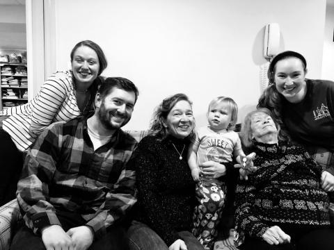 my siblings and grandmother on Christmas