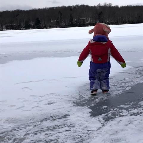 my niece on the frozen lake