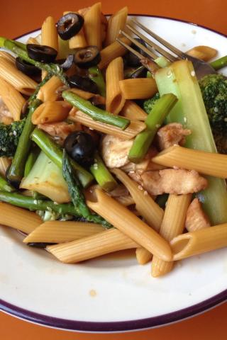 stir-fry pasta