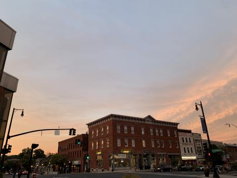 Town of Amherst Sunset