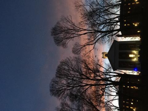 Johnson Chapel at Sunset