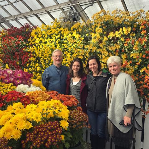 Family at the chrysanthemum show