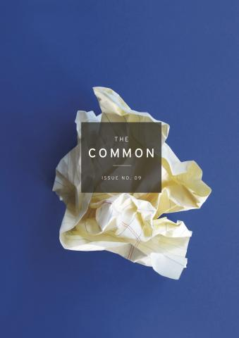 Issue 09 cover: A ball of crumpled paper
