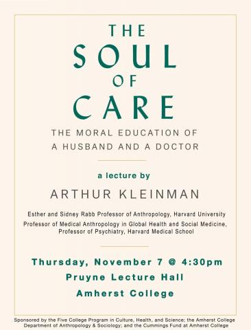 Thursday, Nov. 7th at 4:30 pm at Pruyne Lecture