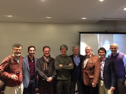 Picture of participants in Lewis-Sebring Prof. Machala, Stavans, Barbezat, Douglas, Rossbottom and student moderator Josh Harmon