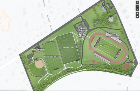 Map of Pratt Field and Practice Field