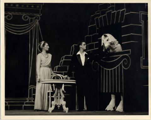 James Merrill (right) Playing the Title Role in Orphée, 1945