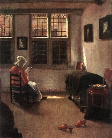 Pieter Janssens Elinga, Reading Woman