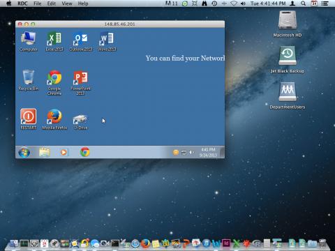 Remote Desktop from Macintosh to Windows
