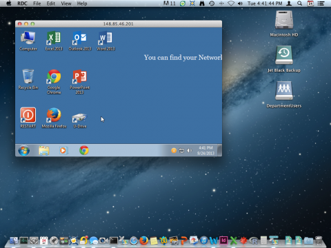 Remote Desktop from Macintosh to Windows