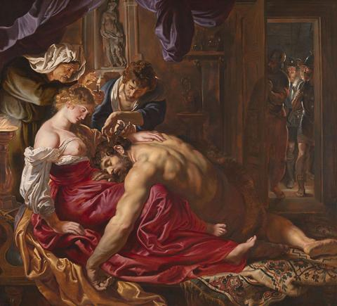 Samon and Delilah, oil painting by Peter Paul Rubins