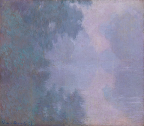 Claude Monet, Morning on the Seine, Giverny, 1897.