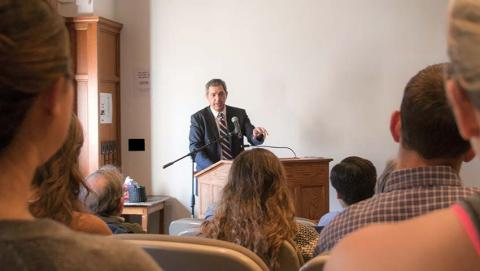 Stavros Lambrinidis visited Amherst College on April 19, 2016.