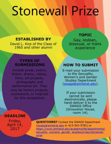 Stonewall prize flyer 2017