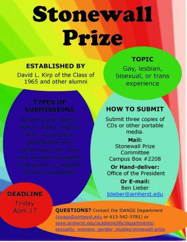 Stonewall Prize 2015