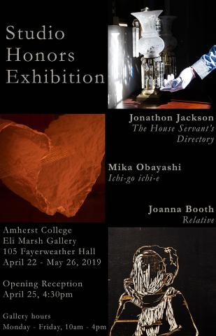 The poster for the 2019 student honors exhibition