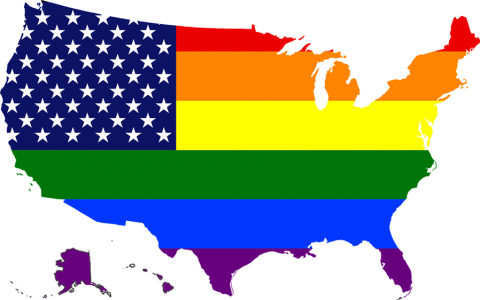 USA Rainbow map