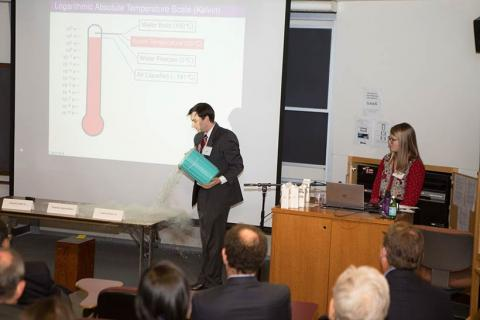 A presentation in Merrill Science Center.
