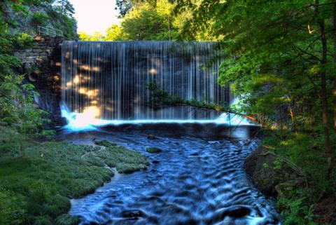 Waterfall-At-Puffers-Pond-Amherst-Massachusetts-USA-HDR-M.jpg