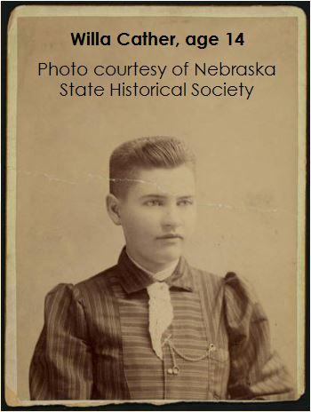 Willa Cather age 14
