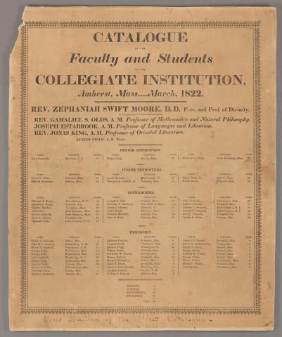 Amherst College Catalog 1822