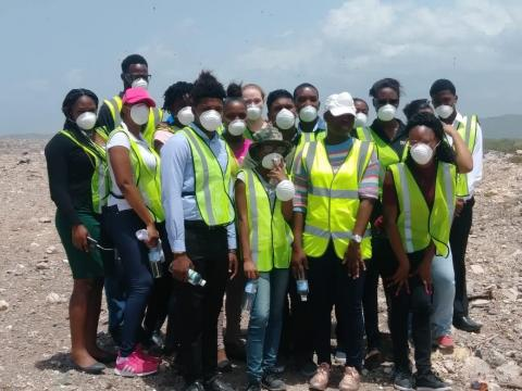 the NSWMA Summer Interns visit the Landfill