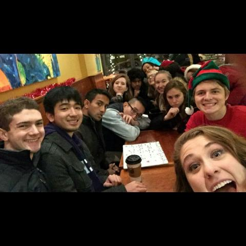the amherst dq after caroling in northampton